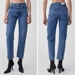RE/DONE High Rise Stovetop Denim Size 29